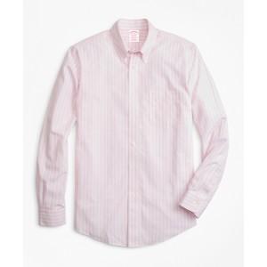 Non-Iron Madison Fit Wide Stripe Sport Shirt