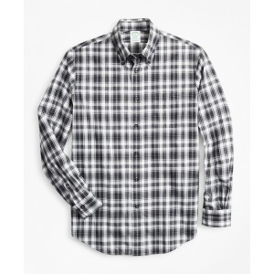 Milano Fit Check Brushed Flannel Sport Shirt