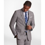 BrooksGate Regent-Fit Windowpane Wool Suit Jacket