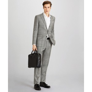 Milano Fit Three-Button Plaid 1818 Suit