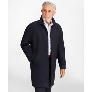 Water-Repellent Wool Raglan Trench Coat
