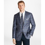 Regent Fit Blue and Tan Plaid Sport Coat