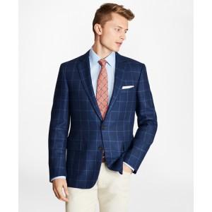 Regent Fit Silk Blend Windowpane Sport Coat