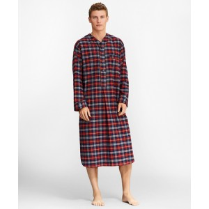 Red Plaid Flannel Nightshirt