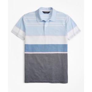 Slim Fit Bold Stripe Polo Shirt