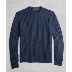 Golden Fleece 3-D Knit Cashmere Cable Sweater