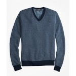 Supima Cotton Pique Stitch V-Neck Sweater
