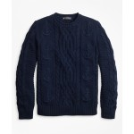 Supima Cotton Anchor Cable Rollneck Sweater