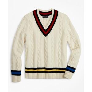 Lambswool Tennis V-Neck Sweater