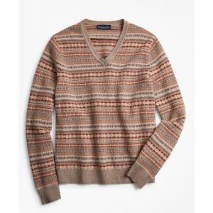 Lambswool Fair Isle V-Neck Sweater