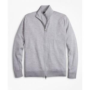 BrooksTech Merino Wool Full-Zip Sweater