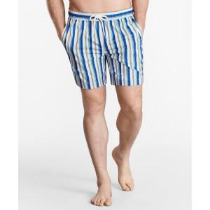 Montauk 6 Stripe Print Swim Trunks