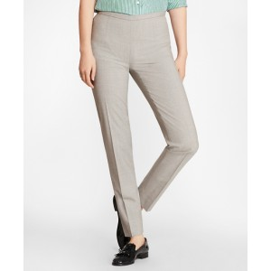 Petite Stretch-Wool Ankle Pants