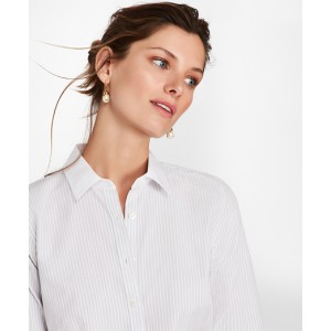 Petite Bengal Stripe Cotton Fitted Shirt
