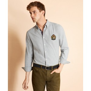 Cotton Flannel Patch Shirt