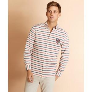 Striped Dobby Patch Shirt