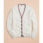 Cotton V-Neck Tennis Cardigan