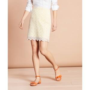 Cotton Crochet Lace Pencil Skirt