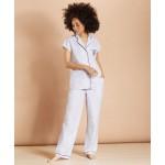 Striped Supima Cotton Poplin Pajamas