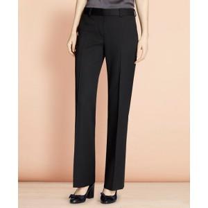 Wide-Leg Stretch Wool Trousers