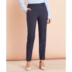 Plaid Stretch-Wool Pleat-Front Pants