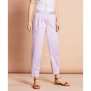 Stretch-Cotton Sateen Pants