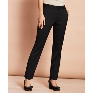 Stretch-Wool Tapered Trousers