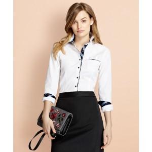 BB#1-Trimmed Nine-to-Nine Stretch-Cotton Poplin Shirt