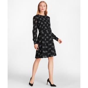 Wildflower-Print Georgette Dress