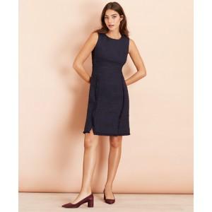 Cotton-Blend Shimmer Boucle Sheath Dress