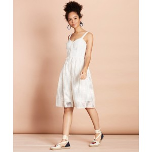 Cotton-Blend Eyelet Dress