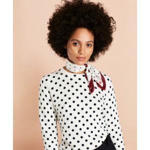 Polka-Dot Cotton Sweater