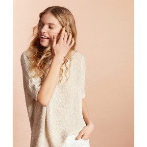 Shimmer Boucle-Knit Sweater