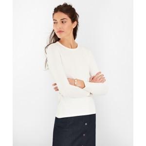 Textured-Stripe Supima Cotton Top