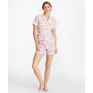 Toile Supima Cotton Poplin Short Pajama Set