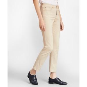 Stretch Supima Cotton Five-Pocket Pants