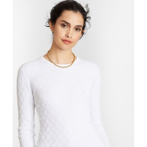 Cable-Knit Supima Cotton-Blend Sweater