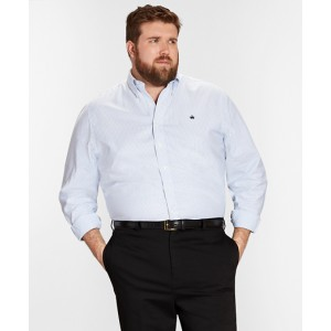 Non-Iron Big & Tall Oxford Stripe Sport Shirt