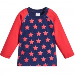 Blue & Red Star Top