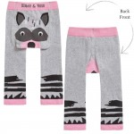 Grey & Pink Racoon Leggings