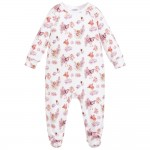 Girls White Cotton Babygrow