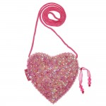 Pink Sequin Heart Bag (11cm)