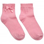Girls Pink Socks with Bow