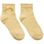 Girls Yellow Socks with Bow