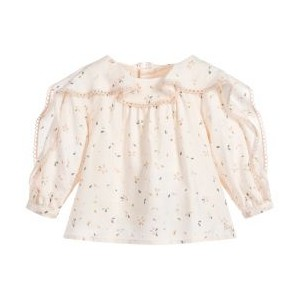 Girls Pink Floral Blouse