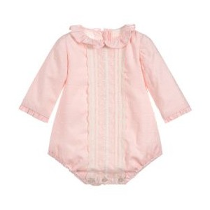 Pink Cotton Shortie with Lace
