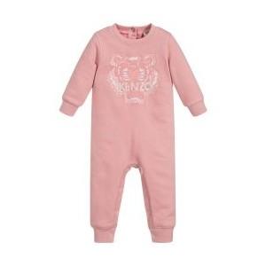 Pink Tiger Cotton Babysuit