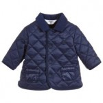 Baby Boys Blue Quilted Coat