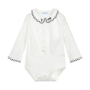 Baby Girls Ivory Cotton Blouse