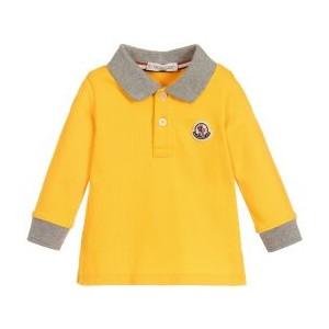 Boys Yellow Cotton Polo Shirt